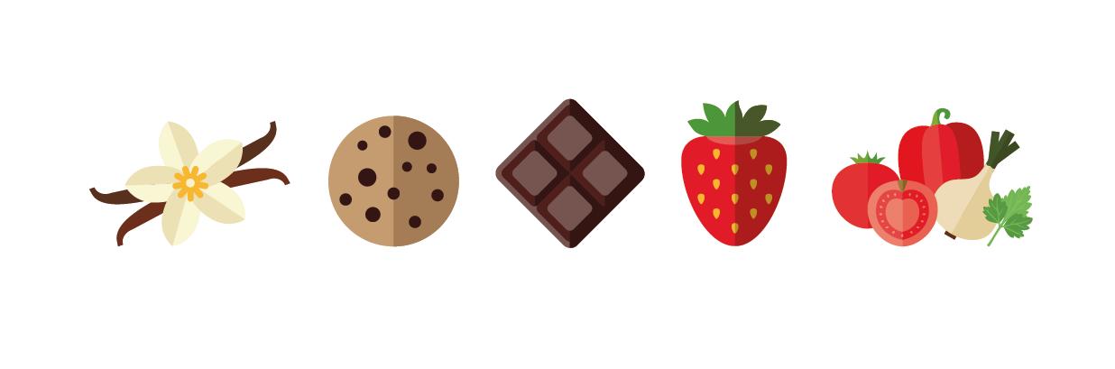 KÜiK Flavours Boosts Sabores Vainilla Cookies Chocolate Fresa Verduras