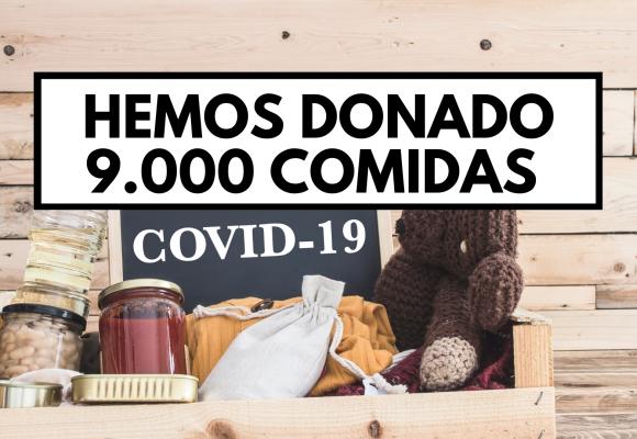 Hemos donado 9.000 comidas completas